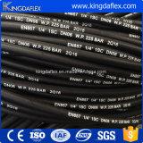 Mangueira de borracha hidráulica industrial reforçada de alta pressão flexível do petróleo do fio de aço (En857 2sc)