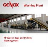 Plástico tecido PP automático dos sacos que lava recicl a máquina
