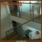 12 mm de acero inoxidable 304 Cristal transparente templado Baranda de balcón (SJ-X1024)