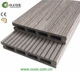 Decking composto plástico de madeira do Decking ao ar livre do revestimento de WPC