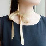 Lengte 119cm van de Halsbanden van de Nauwsluitende halsketting van het Lint DIY van Champagne Rozerode Grijze