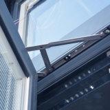 Fenêtre à charnière profilée en aluminium de couleur gris de nouvelle conception de haute qualité K03008