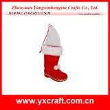Décoration de Noël (ZY16Y221-1 13,5 cm) Santa Boot pour cadeau de Noël de l'artisanat