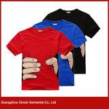 T-shirt feito-à-medida do algodão da boa qualidade para os homens (R15)