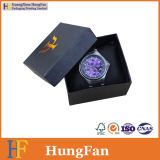 Rectángulo de reloj modificado para requisitos particulares fábrica del papel de Kraft de la insignia con la almohadilla
