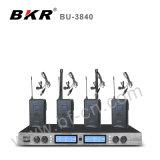 Стабилизированная система микрофона встречи UHF Bu-3840 беспроволочная