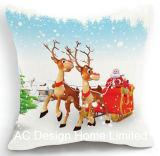 Het vierkante Kerstman X'mas en Kussen W/Filling van de Stof van het Decor van het Ontwerp van de Sneeuwman