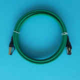 10FT Grijs van de Kabel LSZH van het Flard van het Voorzien van een netwerk van CAT6A het S/FTP Geïnitialiseerde