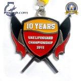 Медаль чемпионата с мягкой завалкой цвета эмали