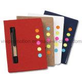 Bandeiras fixas de livro de notas com caneta de papel para promoção (NP105)
