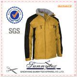 겨울 두 배 옆 대조 색깔 재킷