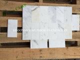 Выполненный на заказ размер нутряное украшение итальянское Bianco Calacatta каменная мраморный мозаика