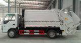Déchets d'Isuzu de 6 roues les petits rassemblent le camion 4 tonnes à 5 tonnes d'ordures de camion de compacteur