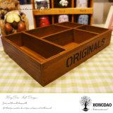 Hongdao artesanal de madera Sundries embalaje caja de madera con la bandeja de logotipo personalizado _E