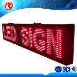P10 exterior LED rojo Desplazamiento del mensaje muestra de la exhibición