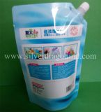 Colores Bolsa de fondo plano bolsa con el canalón de jugo, vino, leche