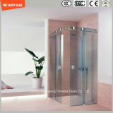 Bâti réglable d'acier inoxydable, bâti en aluminium, glace 6-12 Tempered glissant la pièce de douche simple, pièce jointe de douche, cabine de douche, salle de bains