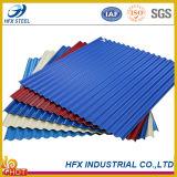 Il colore ha ondulato lo strato d'acciaio del tetto utilizzato nel materiale da costruzione