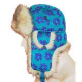 Casquillo caliente del invierno de la venta con la tela hecha punto (WT1201)