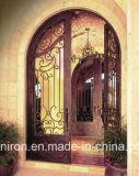 Accueil utilisé pivotement double en acier laminés à froid des portes en fer