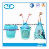 Bolso de basura disponible colorido plástico del lazo