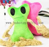 2개의 색깔 Bosw1073/16cm에 있는 면 밧줄 그리고 Squeaker를 가진 견면 벨벳에 의하여 채워지는 애완 동물 장난감
