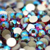 Rhinestone de cristal de la parte posterior plana Ab del Rhinestone fucsia de Ss20 (FB-ss20 fucsia ab)