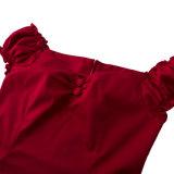Bodycon della donna che copre i vestiti attillati rossi del MIDI della fabbrica di riserva di Dropship