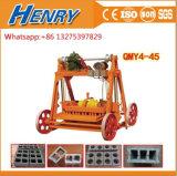 Qmy4-45振動煉瓦機械機械価格を作る移動式卵置くブロック機械具体的な空のブロック