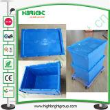 O volume de negócios de Nesting Logística plástico Tote Caixa com reboque