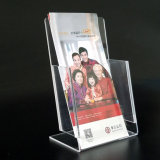 L Shape Clear Acrylic Exposition Nom Card Holder Stand