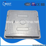 пластичная квадратная крышка люка -лаза 500X500 с замком