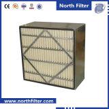Filtre à air moyen de cadre de fibre synthétique