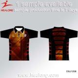 O Sublimation todo o costume do logotipo ostenta a camisa de Jersey do futebol