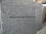 自然な石は階段またはカウンタートップまたは虚栄心の上のための白い花こう岩、白い波によって特定のサイズにカットされたタイルまたは平板を磨いた