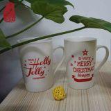 Tazza di caffè di ceramica promozionale di natale all'ingrosso