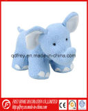 Gracioso lindo elefante reloj blando juguete con bordados