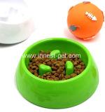 La cuvette lente de câble d'alimentation d'animal familier interactive enflent la cuvette de chat de crabot d'arrêt