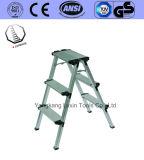 De Kruk die van de Stap van het aluminium Ladder vouwen