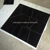 Mattonelle di marmo nere Polished cinesi di Nero Marquina per il pavimento & la parete
