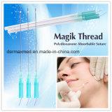 Cuerda de rosca de púas absorbible de Pdo del colágeno absorbible con la sutura de la aguja