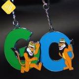 Catena chiave della scimmia su ordinazione di prezzi di fabbrica di buona qualità per il ricordo