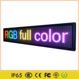 Tarjeta colorida móvil de interior de la muestra del texto de P5 RGB LED