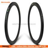 7-Tiger высокое качество дороги Bike Racing обода 50 мм углерода Clincher 700c колесными дисками