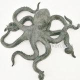 Decoración de plata del pulpo de la resina del jardín de la estatua del animal de mar