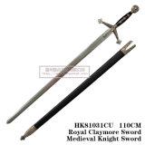 Espadas européias das espadas medievais reais das espadas de Crimeia 110cm HK81031cu