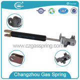 С помощью ручки управления регулируемой газовой пружиной