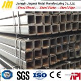 Aislante de tubo de acero de la pared fina rectangular laminada en caliente para el material de construcción
