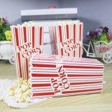 Tamanho grande faixa rosa vermelha caixas pipoca sacos de milho-pipoca caixa de doces para a festa de aniversário de casamento de Banho Bebé Celebration