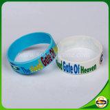 Beste Qualitätsfarbe gefüllter SilikonWristband mit kundenspezifischem Firmenzeichen